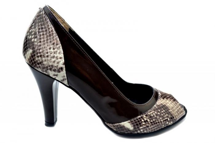 Pantofi Dama Piele Naturala Maro Amata D01323 0