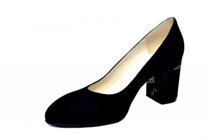 Pantofi cu toc Piele Naturala Negri Andressa D01819 [2]
