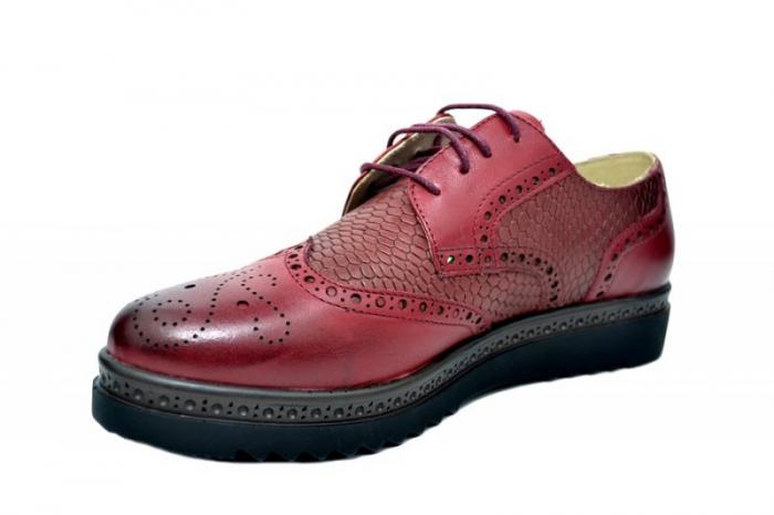 Pantofi Oxford Piele Naturala Grena Anouk D01786 2