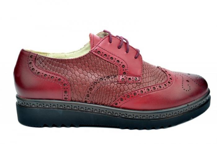 Pantofi Oxford Piele Naturala Grena Anouk D01786 0