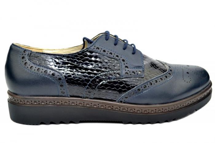 Pantofi Casual Piele Naturala Bleumarin Anouk D01787 [0]