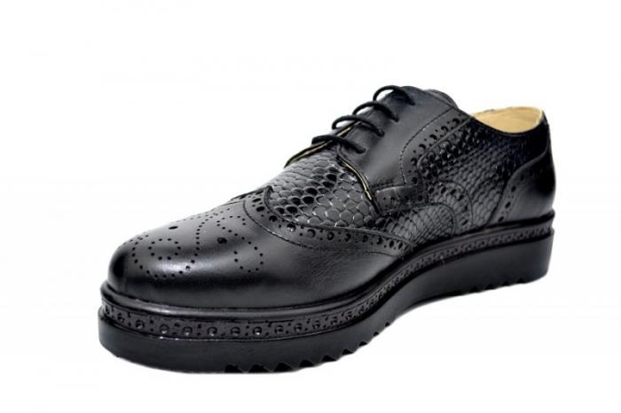 Pantofi Casual Piele Naturala Negri Anouk D01788 2