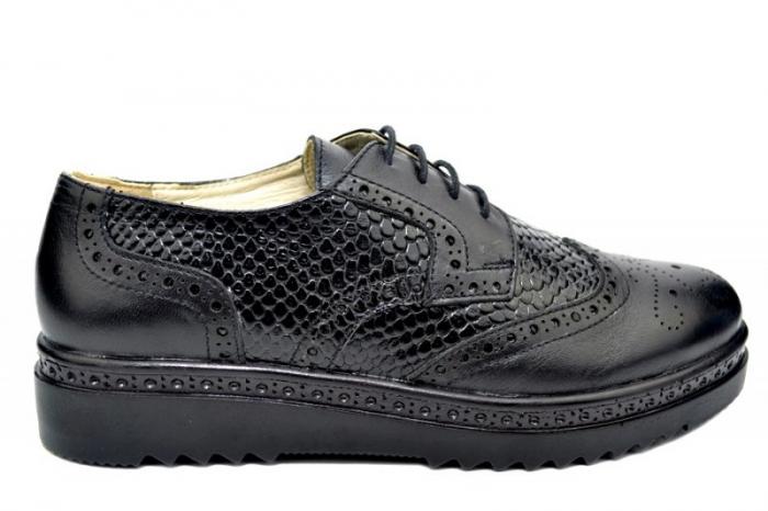 Pantofi Casual Piele Naturala Negri Anouk D01788 0