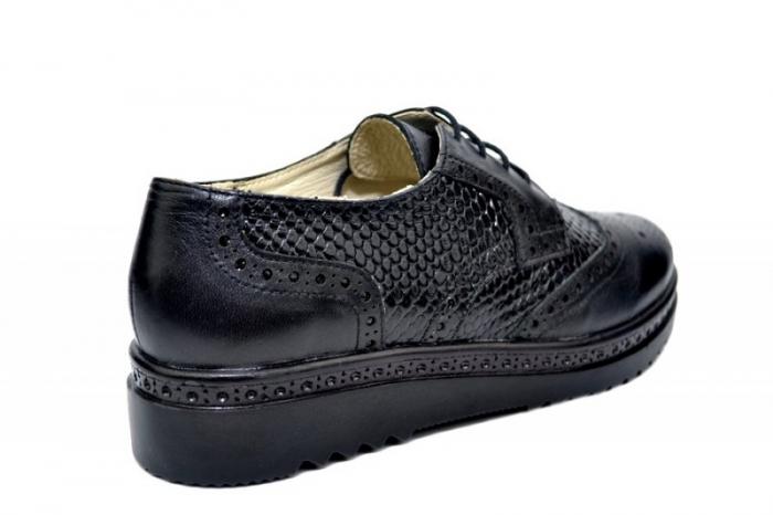 Pantofi Casual Piele Naturala Negri Anouk D01788 3