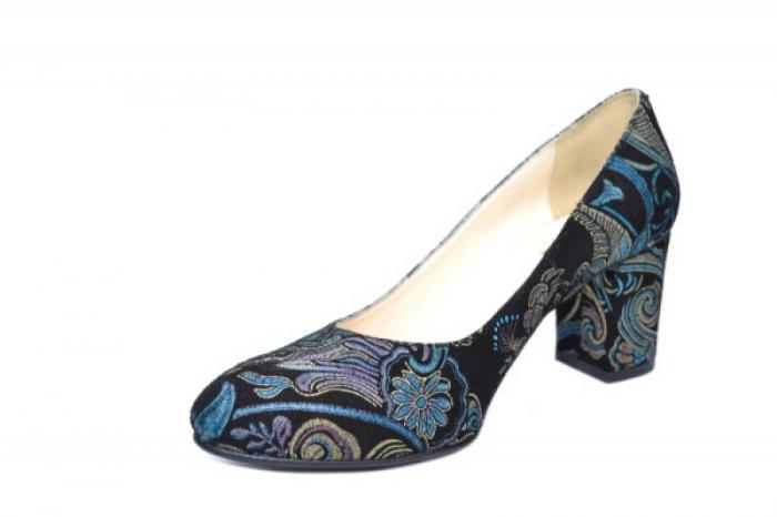 Pantofi cu toc Piele Naturala Negri Aquila D01921 [2]
