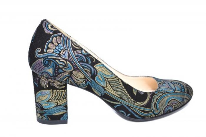 Pantofi cu toc Piele Naturala Negri Aquila D01921 [0]