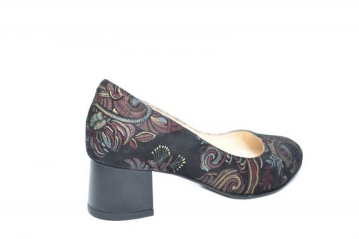 Pantofi cu toc Piele Naturala Negri Ariel D01922 3