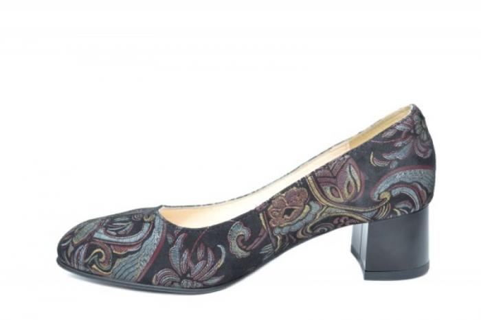 Pantofi cu toc Piele Naturala Negri Ariel D01922 1