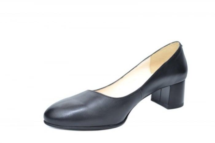Pantofi cu toc Piele Naturala Negri Ariel D01923 2
