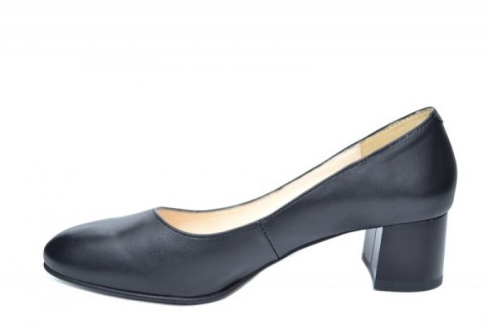 Pantofi cu toc Piele Naturala Negri Ariel D01923 1