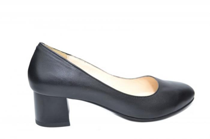 Pantofi cu toc Piele Naturala Negri Ariel D01923 0