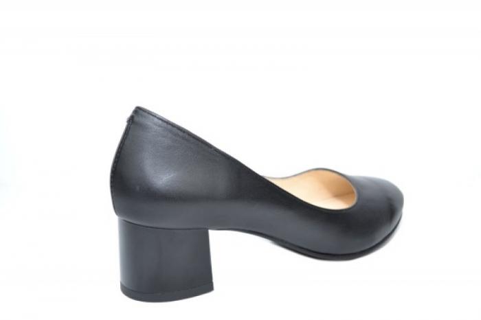 Pantofi cu toc Piele Naturala Negri Ariel D01923 3