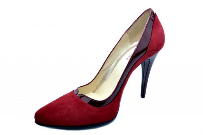 Pantofi cu toc Piele Naturala Grena Arlene D01584 2