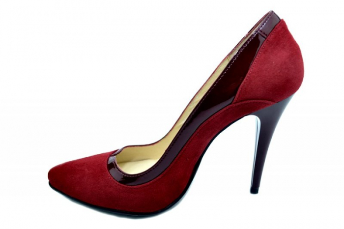 Pantofi cu toc Piele Naturala Grena Arlene D01584 1