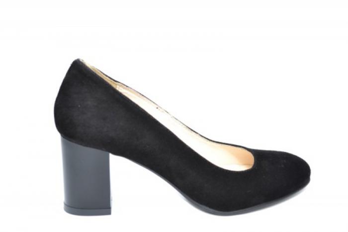 Pantofi cu toc Piele Naturala Negri Auila D01920 0