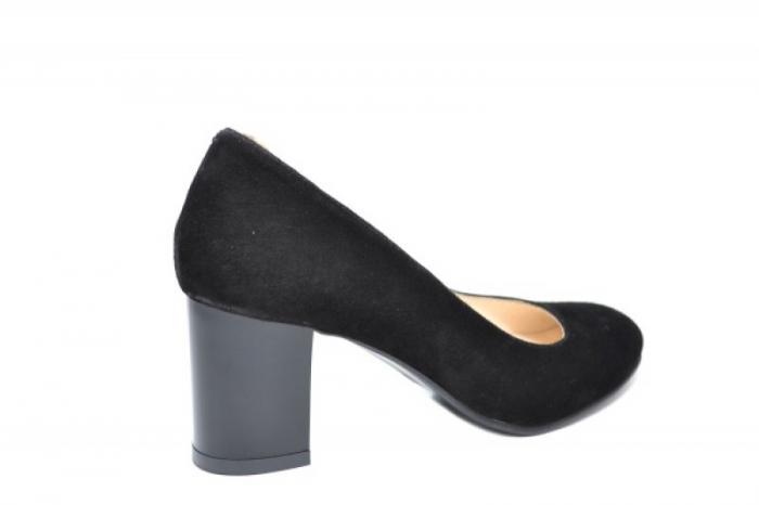 Pantofi cu toc Piele Naturala Negri Auila D01920 3