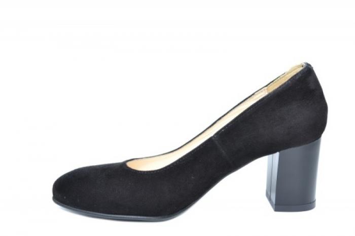 Pantofi cu toc Piele Naturala Negri Auila D01920 1