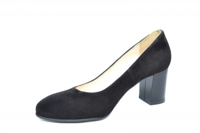 Pantofi cu toc Piele Naturala Negri Auila D01920 2
