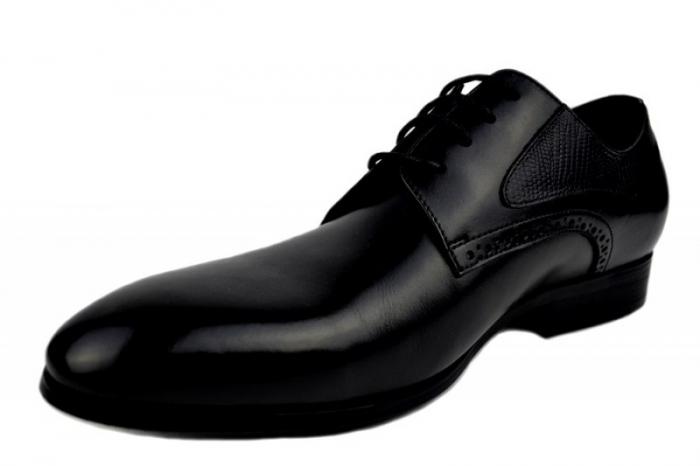 Pantofi Barbati Piele Naturala Negri Benjamin B00003 2