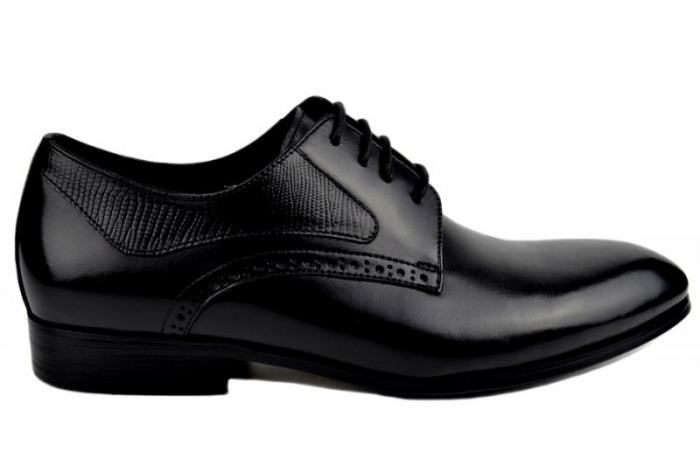 Pantofi Barbati Piele Naturala Negri Benjamin B00003 0