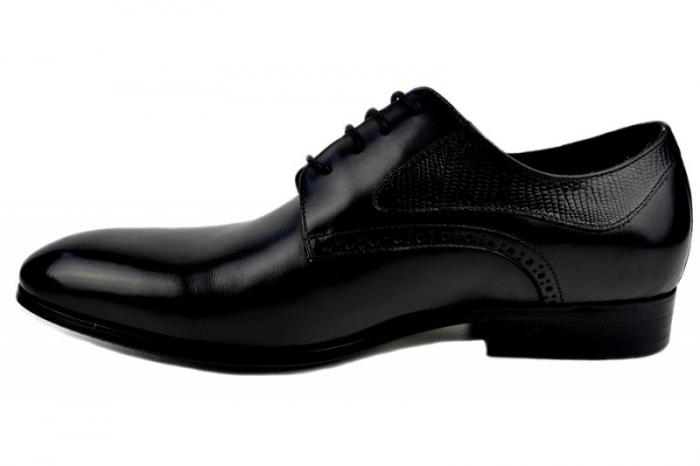 Pantofi Barbati Piele Naturala Negri Benjamin B00003 1