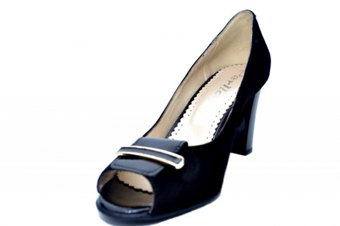 Pantofi Dama Piele Naturala Negri Belinda D01683 2