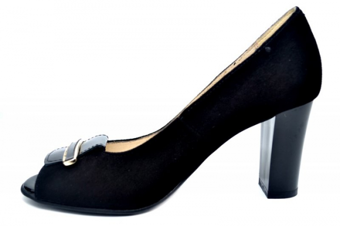 Pantofi Dama Piele Naturala Negri Belinda D01683 1