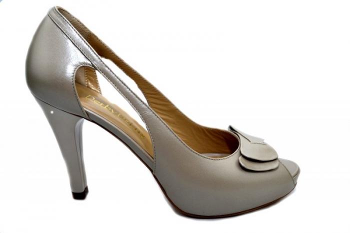 Pantofi Dama Piele Naturala Bej Belle D01325 0