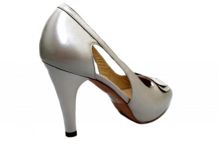 Pantofi Dama Piele Naturala Bej Belle D01325 3