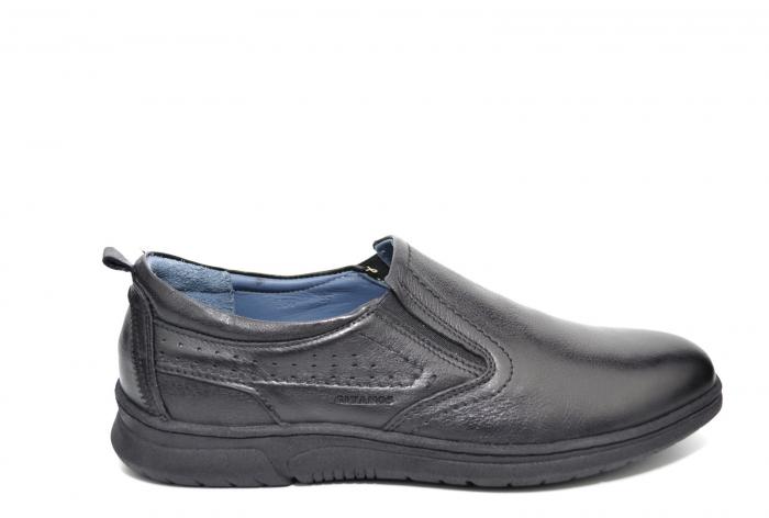 Pantofi Barbati Casual Piele Naturala Negri Benson B00021 [0]
