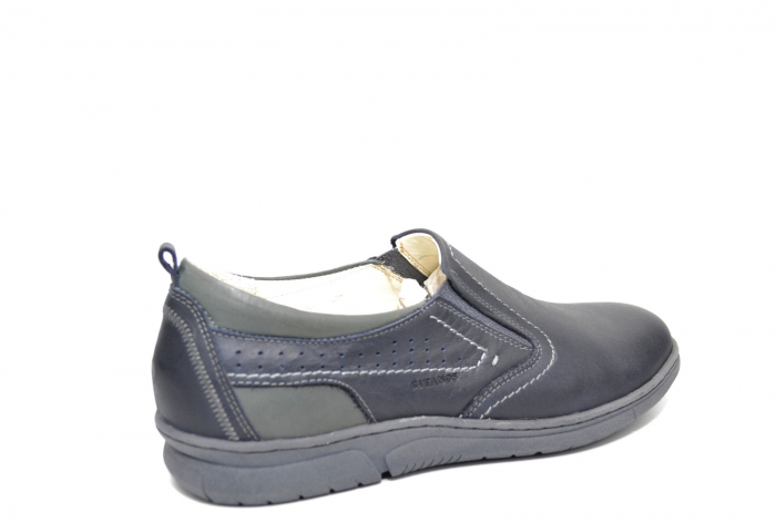 Pantofi Casual Barbati Piele Naturala Bleumarin Benson B00022 [3]