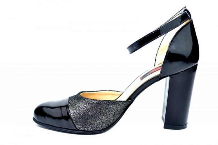 Pantofi Dama Piele Naturala Negri Brenda D01826 1