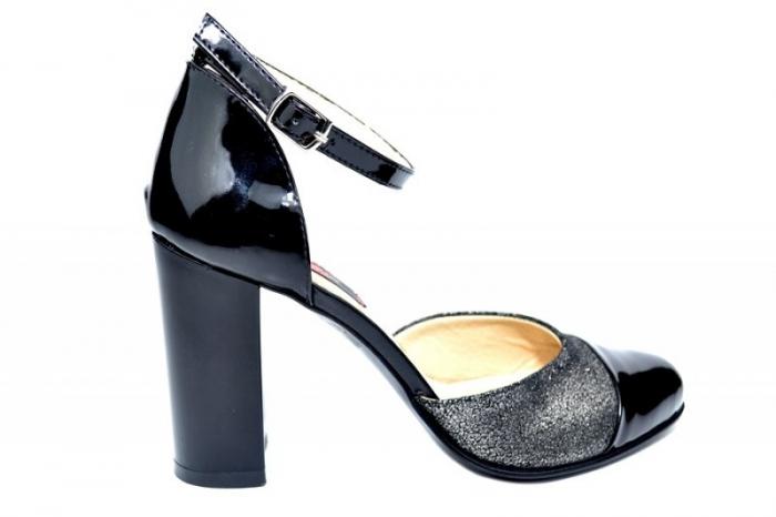 Pantofi Dama Piele Naturala Negri Brenda D01826 0