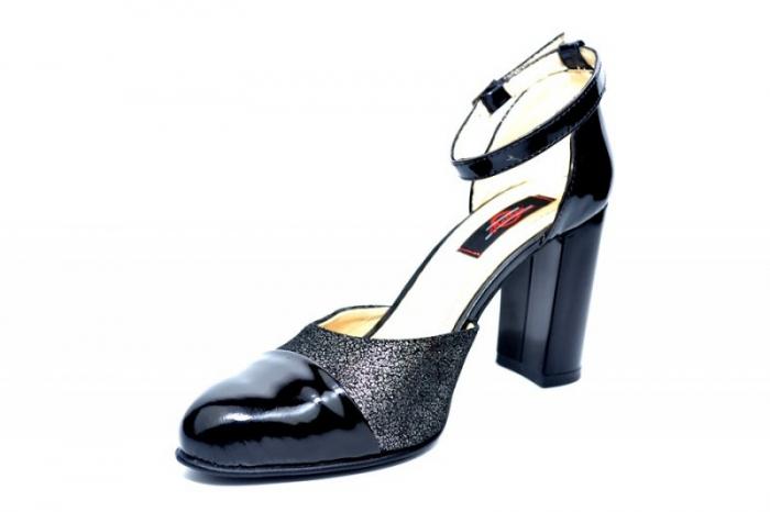 Pantofi Dama Piele Naturala Negri Brenda D01826 2