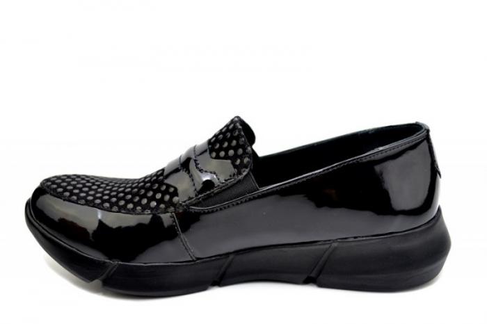 Pantofi Casual Piele Naturala Negri Bryanna D01585 1