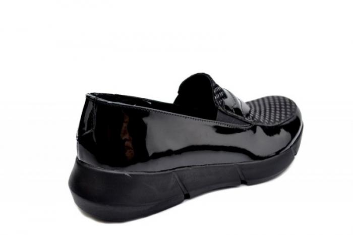 Pantofi Casual Piele Naturala Negri Bryanna D01585 3