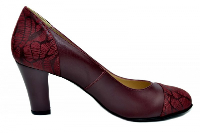 Pantofi cu toc Piele Naturala Grena Daia D01645 0