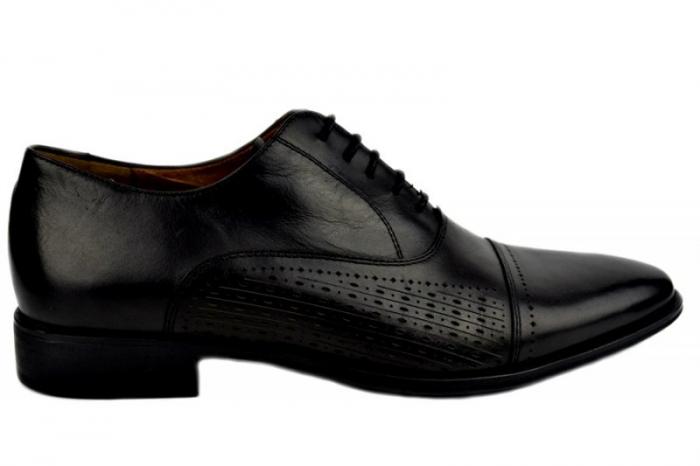 Pantofi Barbati Piele Naturala Negri Denis Noah B00009 0