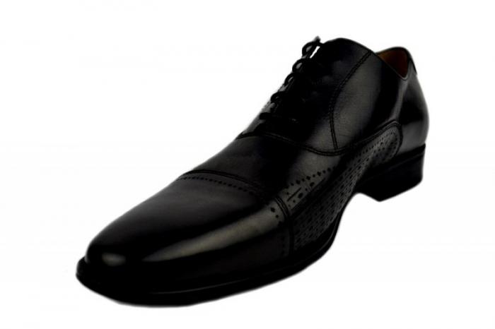 Pantofi Barbati Piele Naturala Negri Denis Noah B00009 2