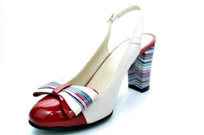 Pantofi Dama Piele Naturala Bej Moda Prosper Denise D01108 3