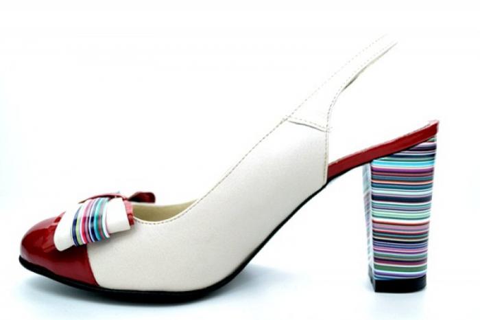 Pantofi Dama Piele Naturala Bej Moda Prosper Denise D01108 1