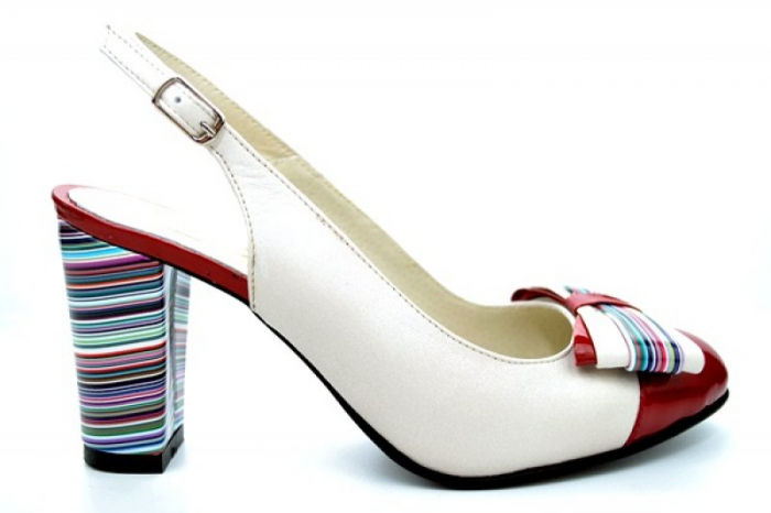 Pantofi Dama Piele Naturala Bej Moda Prosper Denise D01108 0