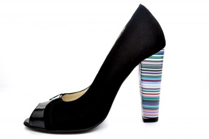 Pantofi cu toc Piele Naturala Negri Moda Prosper Eleonore D01107 1