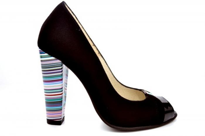 Pantofi cu toc Piele Naturala Negri Moda Prosper Eleonore D01107 0