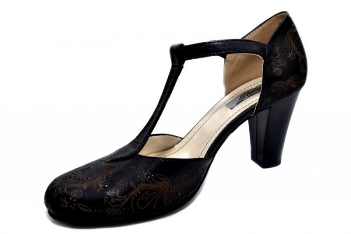 Pantofi Dama Piele Naturala Negri Francesca D01286 2