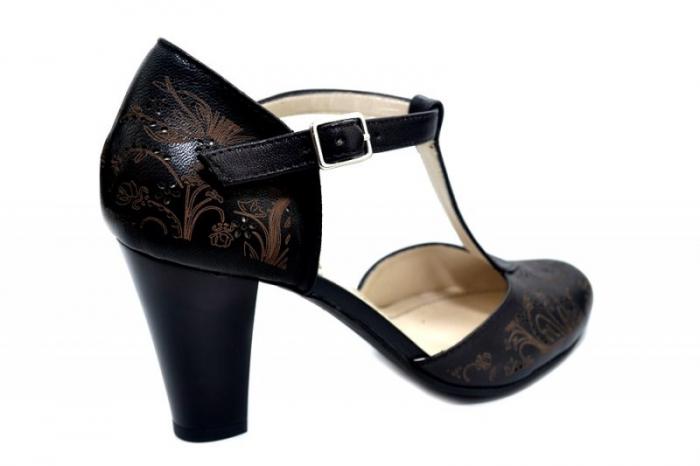 Pantofi Dama Piele Naturala Negri Francesca D01286 [3]
