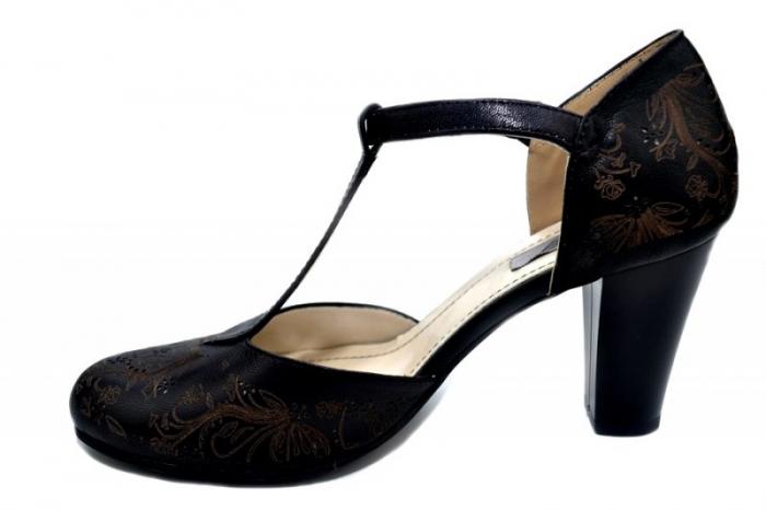 Pantofi Dama Piele Naturala Negri Francesca D01286 [1]
