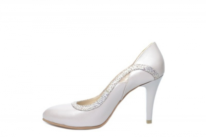 Pantofi cu toc Piele Naturala Bej Moda Prosper Gia D02023 [1]