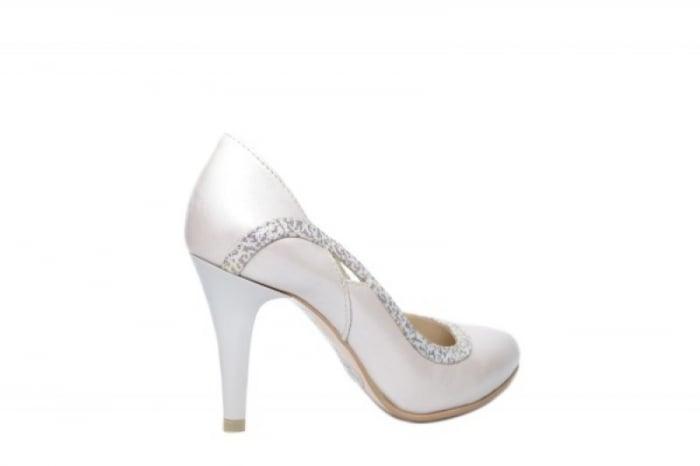 Pantofi cu toc Piele Naturala Bej Moda Prosper Gia D02023 [3]