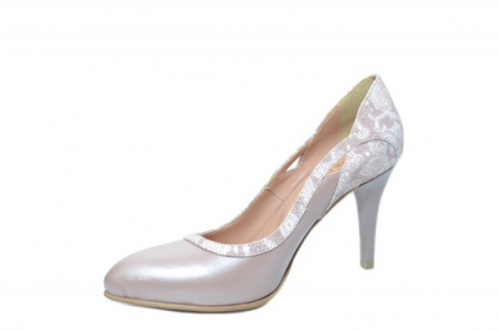 Pantofi cu toc Piele Naturala Nude Moda Prosper Gia D02024 2